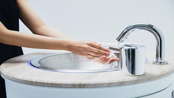 AIを活用した水循環 水道がなくても手を洗えるWOSHの仕組み